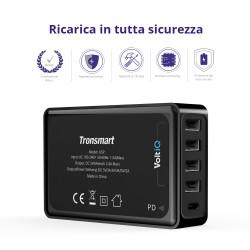 Tronsmart U5P 60W USB PD Desktop Charger with VoltiQ