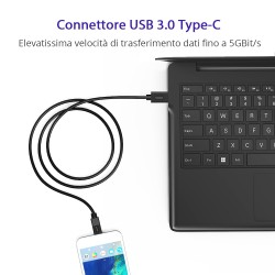 Tronsmart CC04P Cavo USB Type-C Maschio a Type-A 2.0 Maschio (1 bianco, 1 nero)