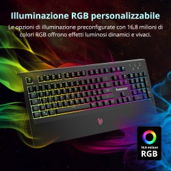 Tronsmart TK09R Tastiera da gioco meccanica RGB